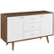 Modway Transmit Sideboard in Walnut White