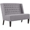 Achieve Upholstered Fabric Settee in Light Gray by East End Imports