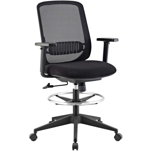 Modway Acclaim Mesh Drafting Chair in Black
