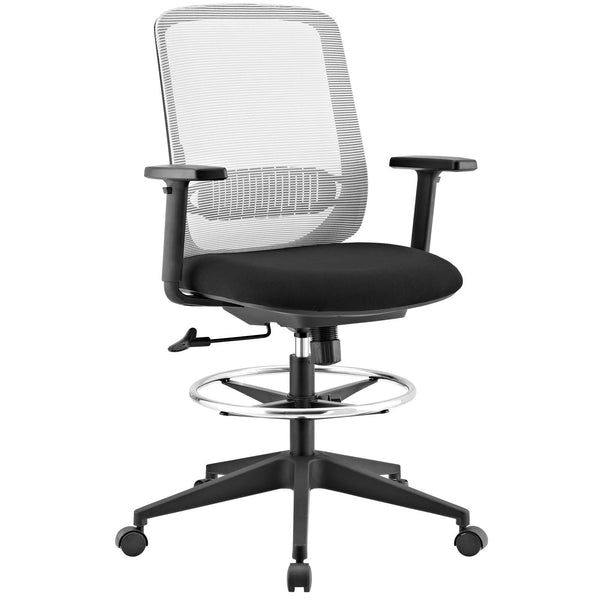 Modway Acclaim Mesh Drafting Chair in Gray