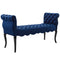 Adelia Chesterfield Style Button Tufted Performance Velvet Bench in Navy by East End Imports