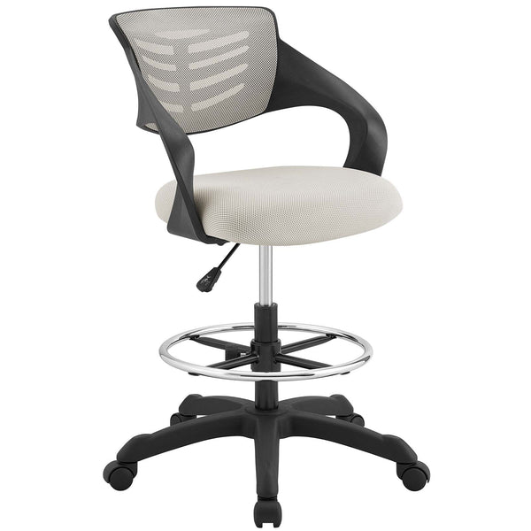 Modway Thrive Mesh Drafting Chair in Gray