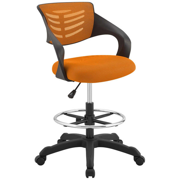 Modway Thrive Mesh Drafting Chair in Orange