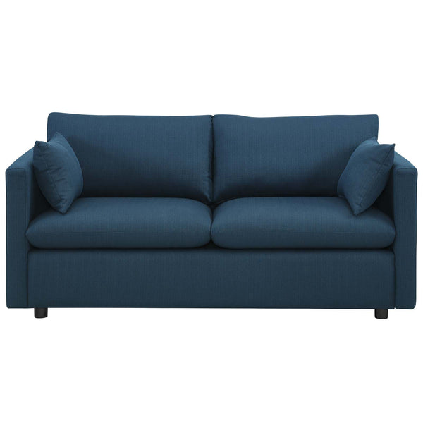 Activate Upholstered Fabric Sofa in Azure by East End Imports