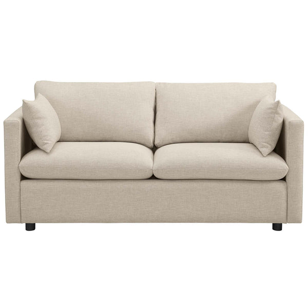 Activate Upholstered Fabric Sofa in Beige by Modway