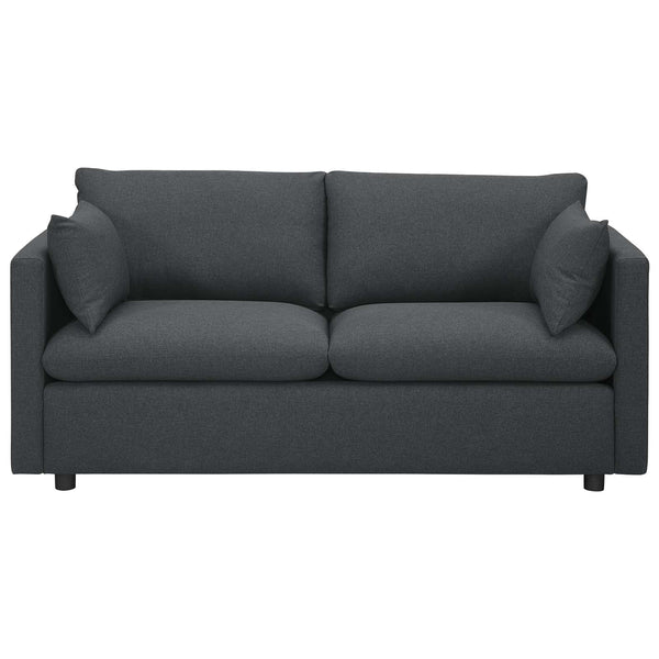 Activate Upholstered Fabric Sofa in Gray by Modway