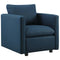 Activate Upholstered Fabric Armchair in Azure by East End Imports