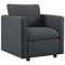 Activate Upholstered Fabric Armchair in Gray by East End Imports