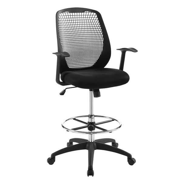 Modway Intrepid Mesh Drafting Chair in Black