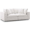 Modway EEI-3354-BEI Commix Down Filled Overstuffed 2 Piece Sectional Sofa Set
