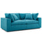 Modway EEI-3354-TEA Commix Down Filled Overstuffed 2 Piece Sectional Sofa Set