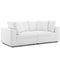 Modway EEI-3354-WHI Commix Down Filled Overstuffed 2 Piece Sectional Sofa Set