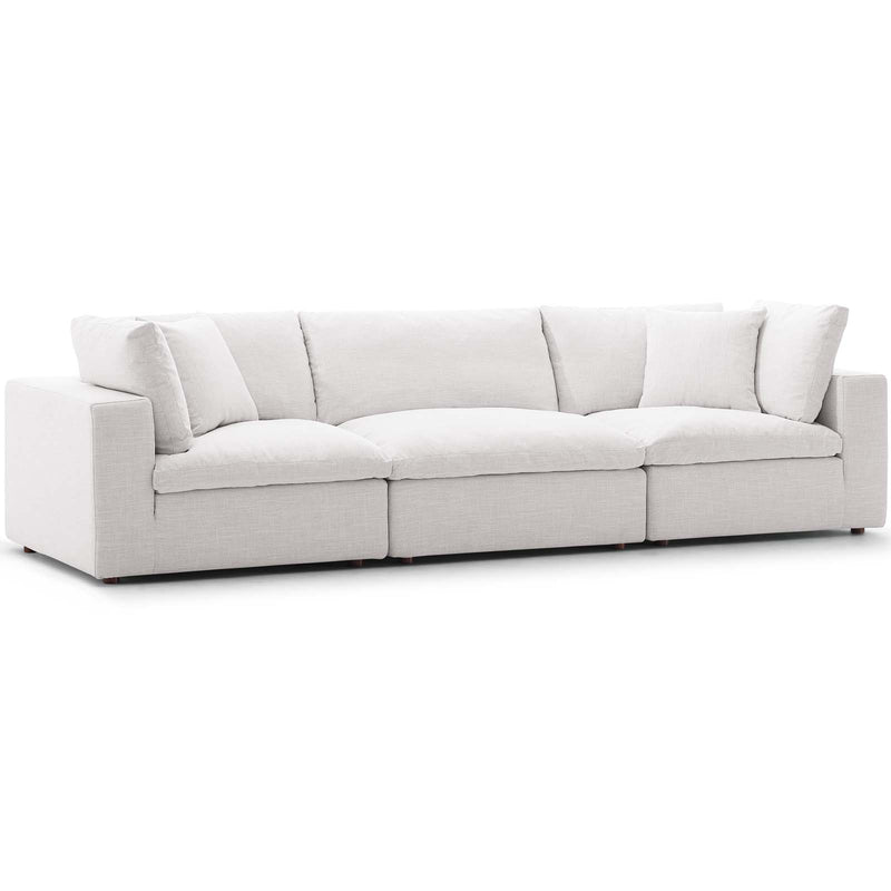 Modway EEI-3355-BEI Commix Down Filled Overstuffed 3 Piece Sectional Sofa Set