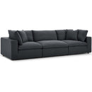 Modway EEI-3355-GRY Commix Down Filled Overstuffed 3 Piece Sectional Sofa Set
