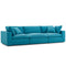 Modway EEI-3355-TEA Commix Down Filled Overstuffed 3 Piece Sectional Sofa Set