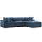 Modway EEI-3356-AZU Commix Down Filled Overstuffed 4 Piece Sectional Sofa Set