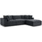 Modway EEI-3356-GRY Commix Down Filled Overstuffed 4 Piece Sectional Sofa Set