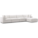 Modway EEI-3358-BEI Commix Down Filled Overstuffed 5 Piece Sectional Sofa Set