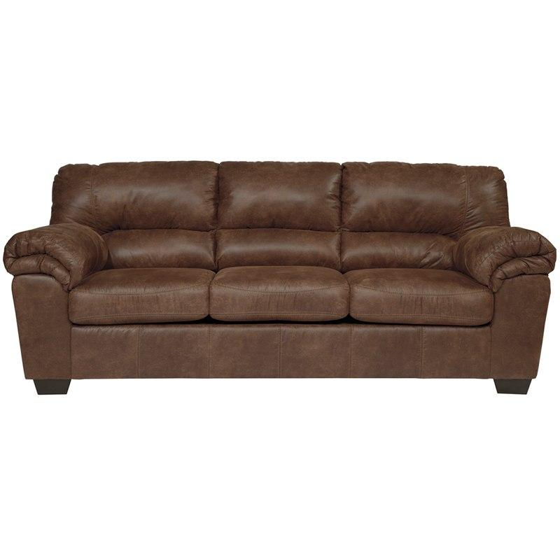 Flash Furniture FSD-1209SO-COF-GG Signature Design by Ashley Bladen Sofa in Coffee Faux Leather