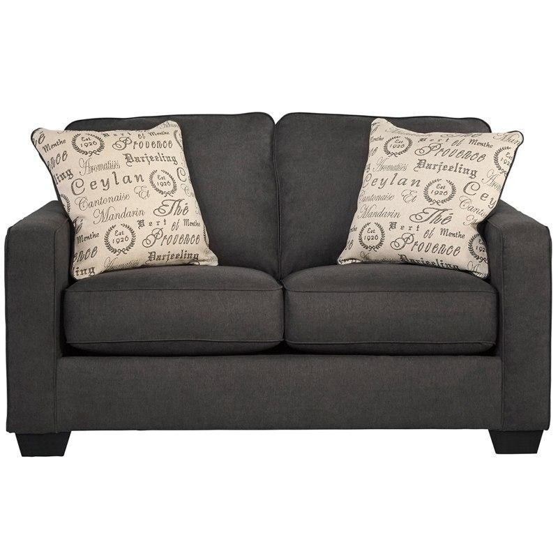 Flash Furniture FSD-1669LS-CH-GG Signature Design by Ashley Alenya Loveseat in Charcoal Microfiber