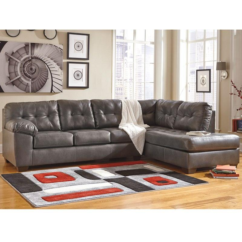 Flash Furniture FSD-2399RFSEC-GRY-GG Signature Design by Ashley Alliston Sectional with Right Side Facing Chaise in Gray DuraBlend
