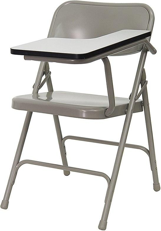 Flash Furniture HF-309AST-LFT-GG Premium Steel Folding Chair with Left Handed Tablet Arm