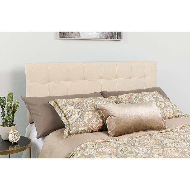 Flash Furniture HG-HB1704-F-B-GG Bedford Tufted Upholstered Full Size Headboard in Beige Fabric