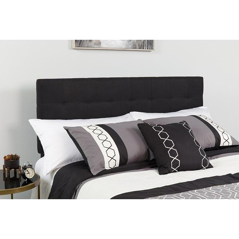 Flash Furniture HG-HB1704-Q-BK-GG Bedford Tufted Upholstered Queen Size Headboard in Black Fabric