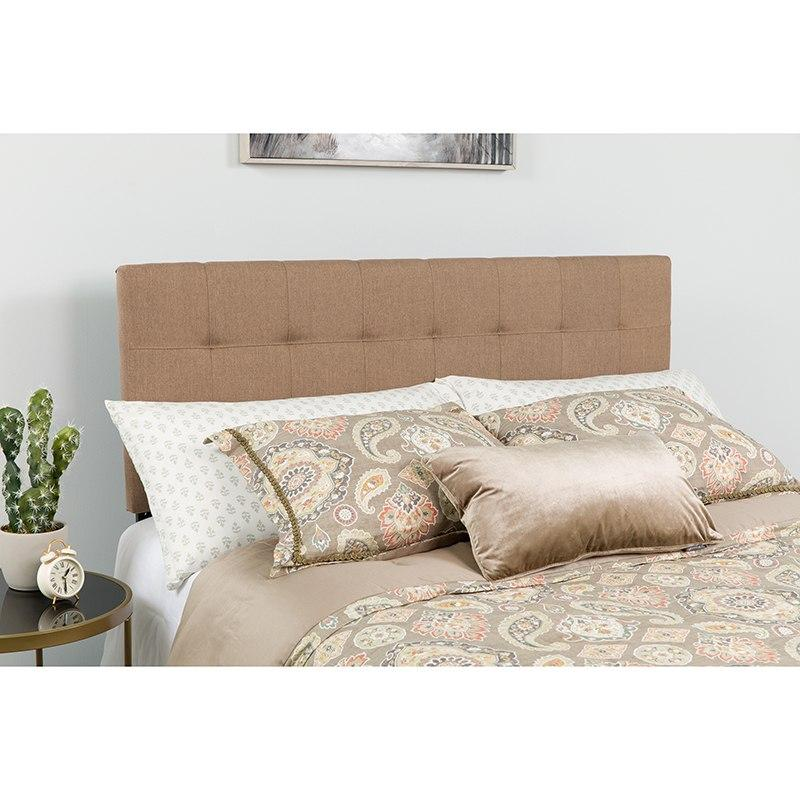 Flash Furniture HG-HB1704-Q-C-GG Bedford Tufted Upholstered Queen Size Headboard in Camel Fabric