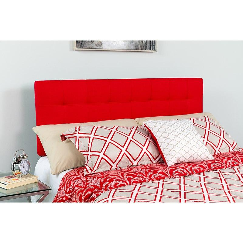 Flash Furniture HG-HB1704-T-R-GG Bedford Tufted Upholstered Twin Size Headboard in Red Fabric