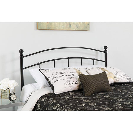 Flash Furniture HG-HB1706-T-GG Woodstock Decorative Black Metal Twin Size Headboard