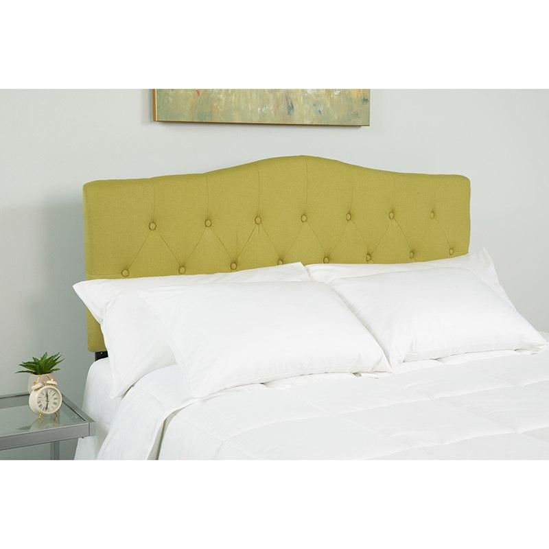 Flash Furniture HG-HB1708-K-G-GG Cambridge Tufted Upholstered King Size Headboard in Green Fabric