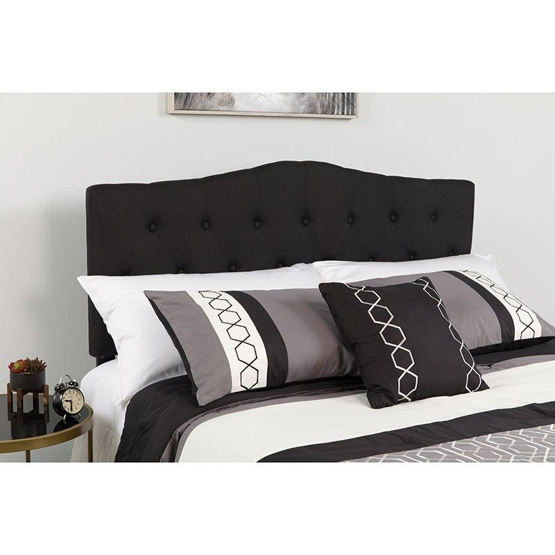 Flash Furniture HG-HB1708-Q-BK-GG Cambridge Tufted Upholstered Queen Size Headboard in Black Fabric