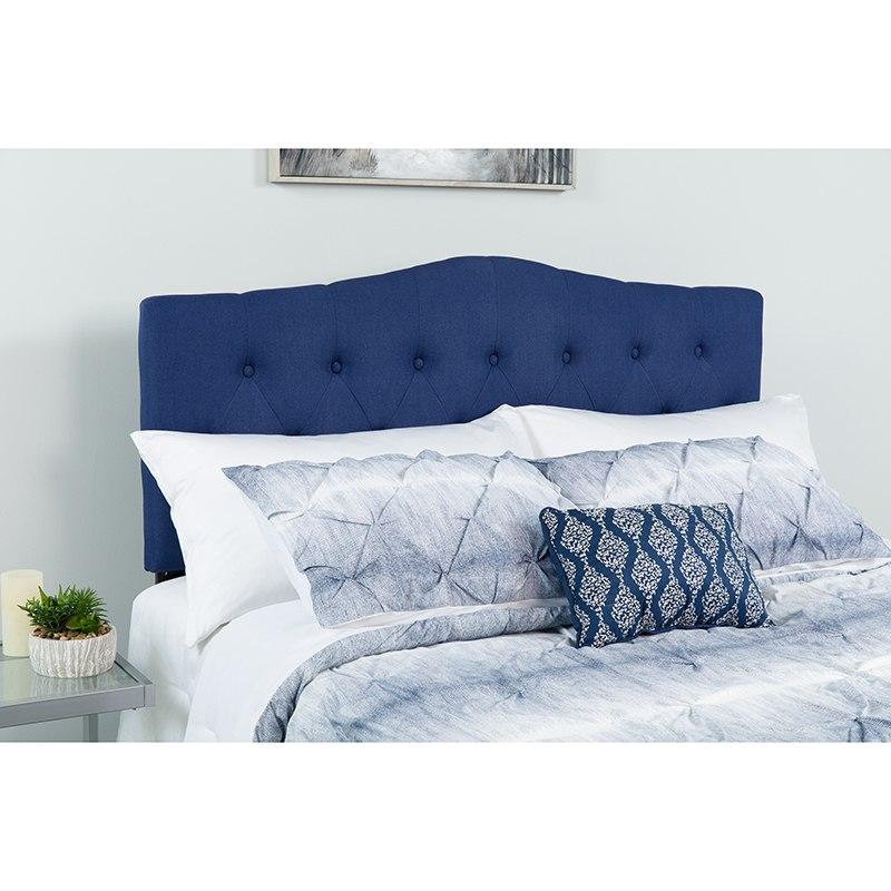 Flash Furniture HG-HB1708-Q-N-GG Cambridge Tufted Upholstered Queen Size Headboard in Navy Fabric