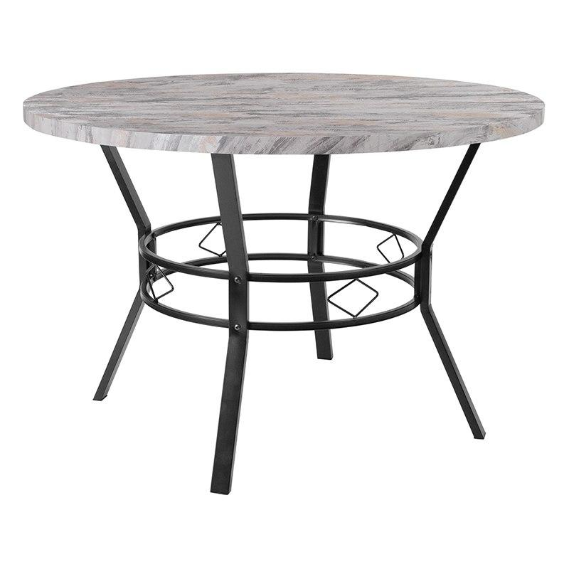 "Flash Furniture HS-D03003TR-5123-02-45-GG Tremont 45"" Round Dining Table in Distressed Slate Finish"