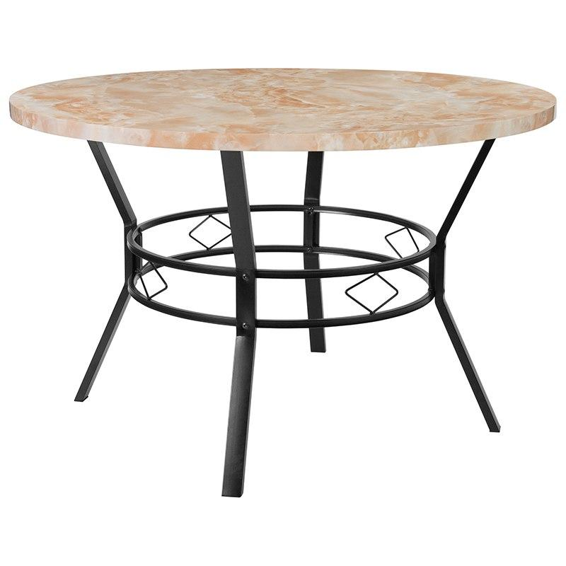 "Flash Furniture HS-D03003TR-580-47-GG Tremont 47"" Round Dining Table in Quartz Marble-Like Finish"