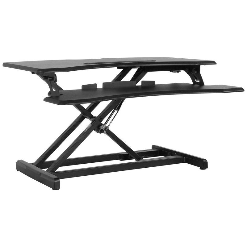 "Flash Furniture JE-JN-SD33H-GG HERCULES Series 32.6""W Black Sit / Stand Height Adjustable Desk with Height Lock Feature"