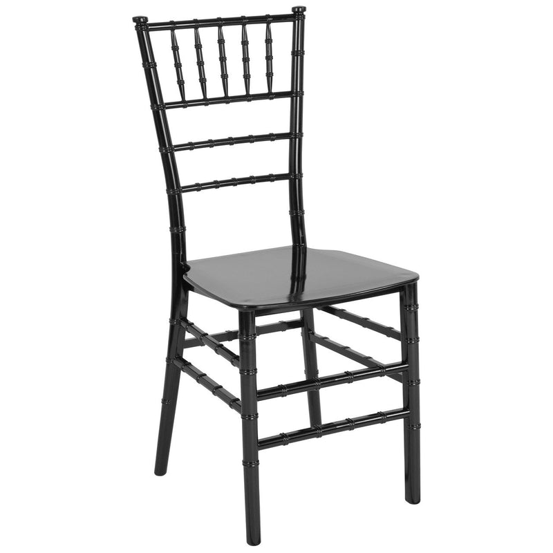 Flash Furniture LE-BLACK-M-GG HERCULES Series Black Resin Stacking Chiavari Chair