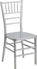 Flash Furniture LE-SILVER-GG HERCULES PREMIUM Series Silver Resin Stacking Chiavari Chair