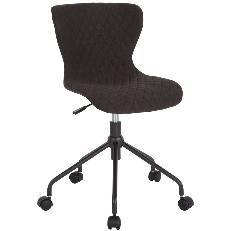 Flash Furniture LF-9-07-BLK-F-GG Somerset Home and Office Upholstered Task Chair in Black Fabric