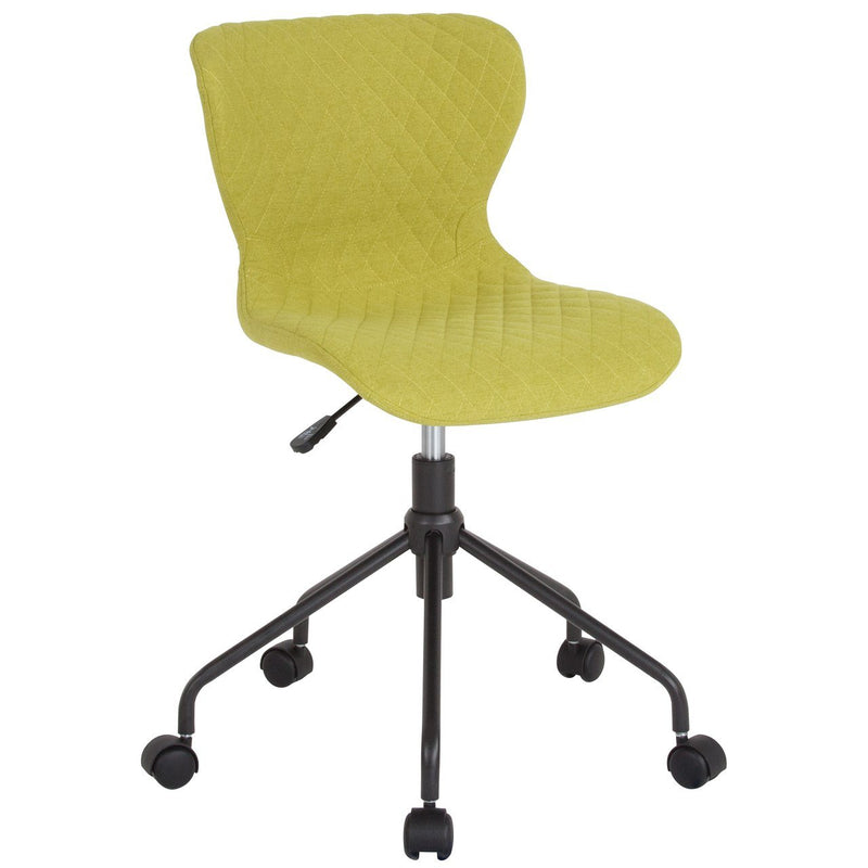 Flash Furniture LF-9-07-GRN-F-GG Somerset Home and Office Upholstered Task Chair in Citrus Green Fabric