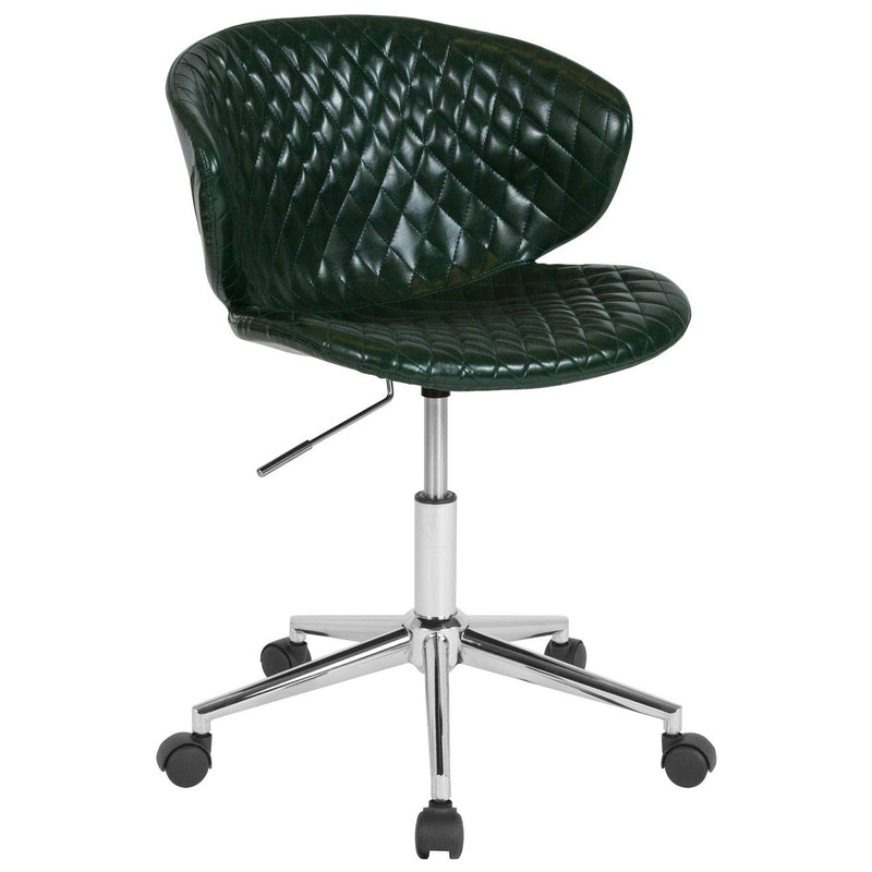 Flash Furniture LF-9-17-GRN-GG Cambridge Home and Office Upholstered Mid-Back Chair in Green Vinyl