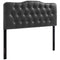 Modway Annabel Queen Upholstered Vinyl Headboard in Black