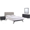 Addison 4 Piece Queen Bedroom Set in Black Gray by Modway