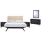 Addison 5 Piece Queen Bedroom Set in Black Beige by East End Imports