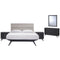 Addison 5 Piece Queen Bedroom Set in Black Gray by East End Imports
