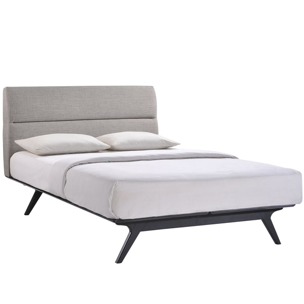 Addison King Bed in Black Gray by Modway