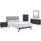 Addison 5 Piece Queen Bedroom Set in Black Gray by Modway
