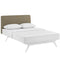 Tracy Queen Bed in White Latte by Modway