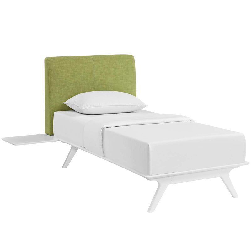 Tracy 3 Piece Twin Bedroom Set in White Green by Modway